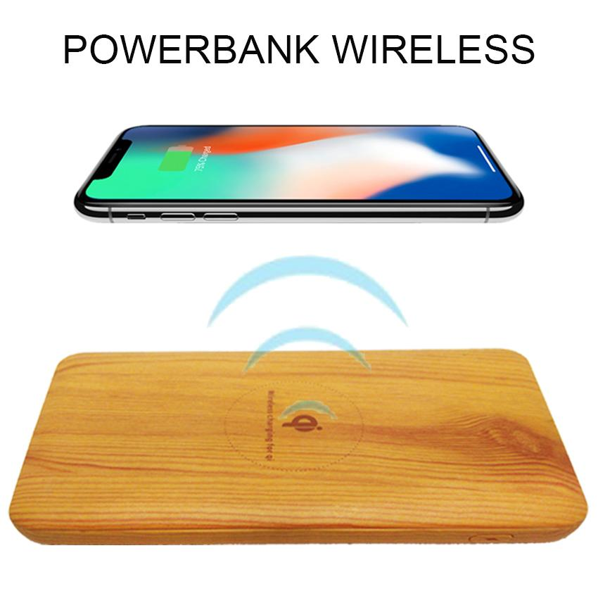 MAJ-Powerbank wireless series Q2 new pertama di indonesia 10000mAh Suport for android - ios Compotible For Samsung Galaxy: Note 8, S8, S8+, S7, S7 Edge, Note 5, S6, S6 Edge, Apple: iPhone X, iPhone 8, iPhone 8+