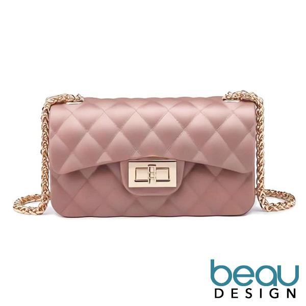 Beau Design Tas Selempang Import Jelly PREMIUM Dove Matte Chevron Fashion Import Anak Remaja Dan Wanita Dewasa Mewah Cantik Mini Candy Sling Bag