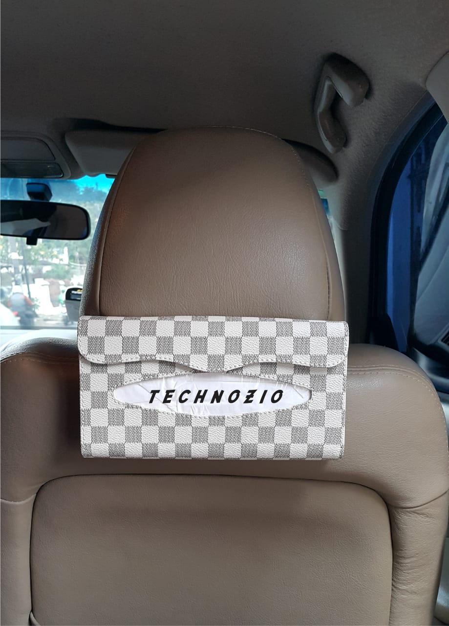 TECHNOZIO TISSUE BACKSEAT/TEMPAT TISSUE MOBIL CREAM SKAK