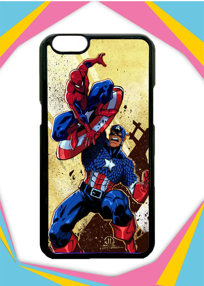 Casing OPPO F1S Selfie Expert Custom Hardcase captain america vs spiderman Z0492 Case Cover