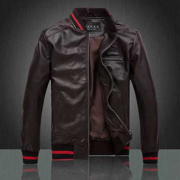 Jual Jaket Kulit Gucci Bomber Jacket Signature