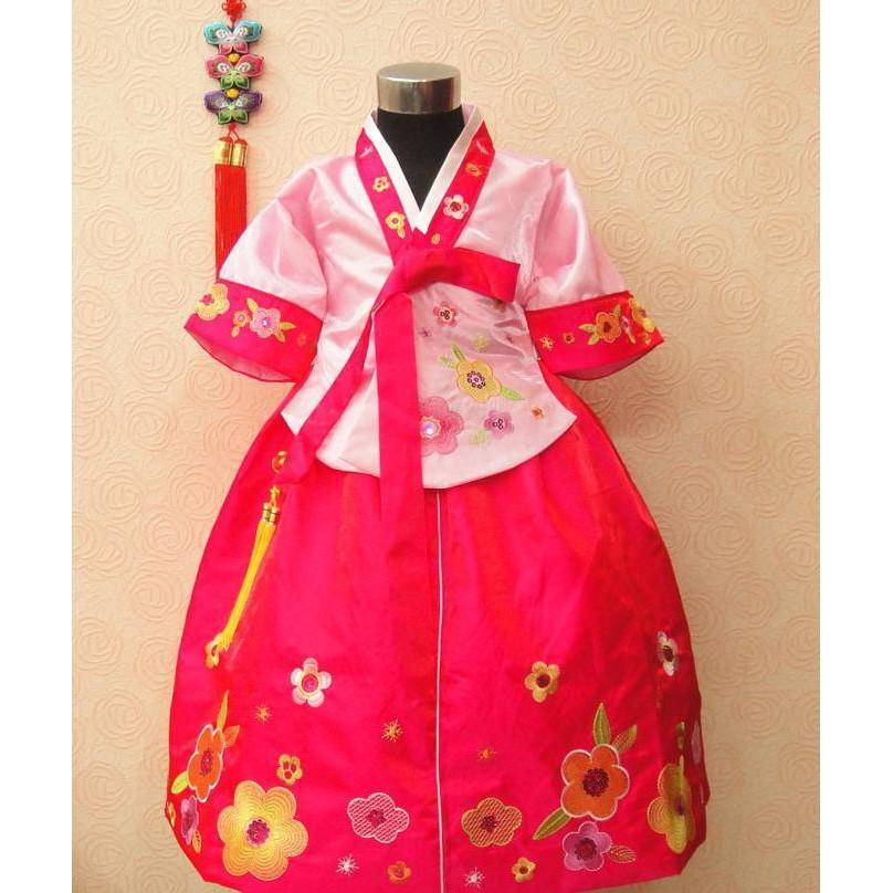 PROMO SALE - HANBOK GIRL BAJU ANAK DRESS TRADISIONAL KOREA KOSTUM TK265  F001