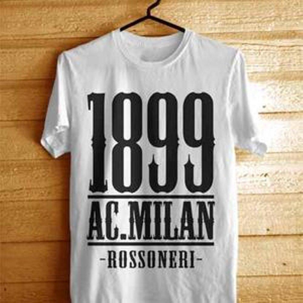 D|F.co Kaos Distro AC Milan Kualitas Premium 100% Cotton Combed