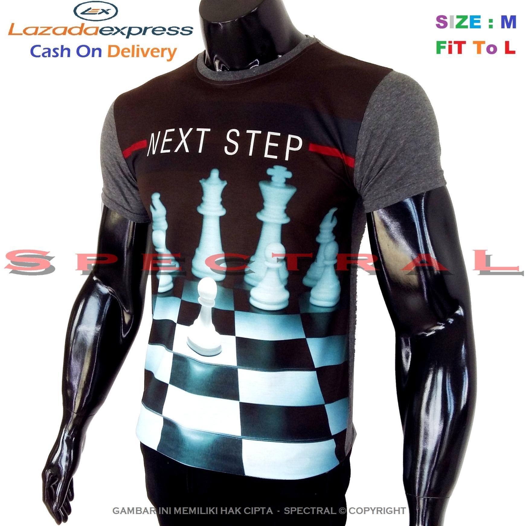 Spectral – 3D CATUR Kualitas HD Printing Size M Fit To L Soft Rayon Viscose Kaos Distro Fashion T-Shirt Atasan Baju Pakaian Polos Pria Wanita Cewe Cowo Lengan Murah Bagus Keren Jaman Kekinian Jakarta Bandung Gambar Otak Skak Olahraga Chess Pintar Strategi