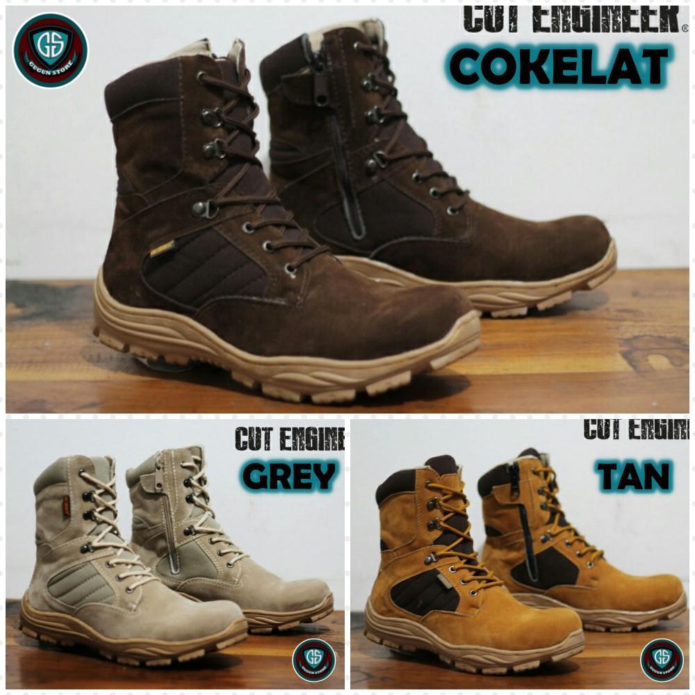 Sepatu Boots Pria Cut Engineer Work   Safety Men Boots Tracking Outdoor  Mirip Magnum Dan Delta 52f0de0f19