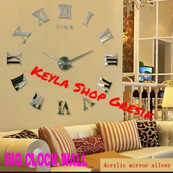DIY Giant wall clock ukuran diameter besar 30 - 60 cm Jam dinding tembok JUMBO RAKSASA KEYLA SHOP GRESIK
