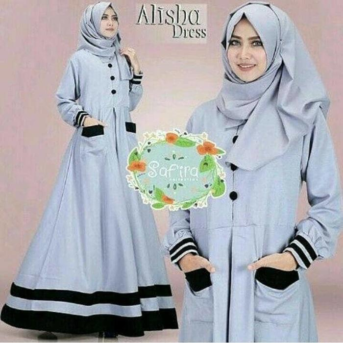 Alisha Dress - Gamis Murah / Baju Wanita Murah / Dress Remaja-gamis masa kini