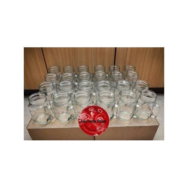 Drinking Gelas Jar Harvest / Mug Dapur Tutup Plastik Lubang KecilIDR6000. Rp 8.000