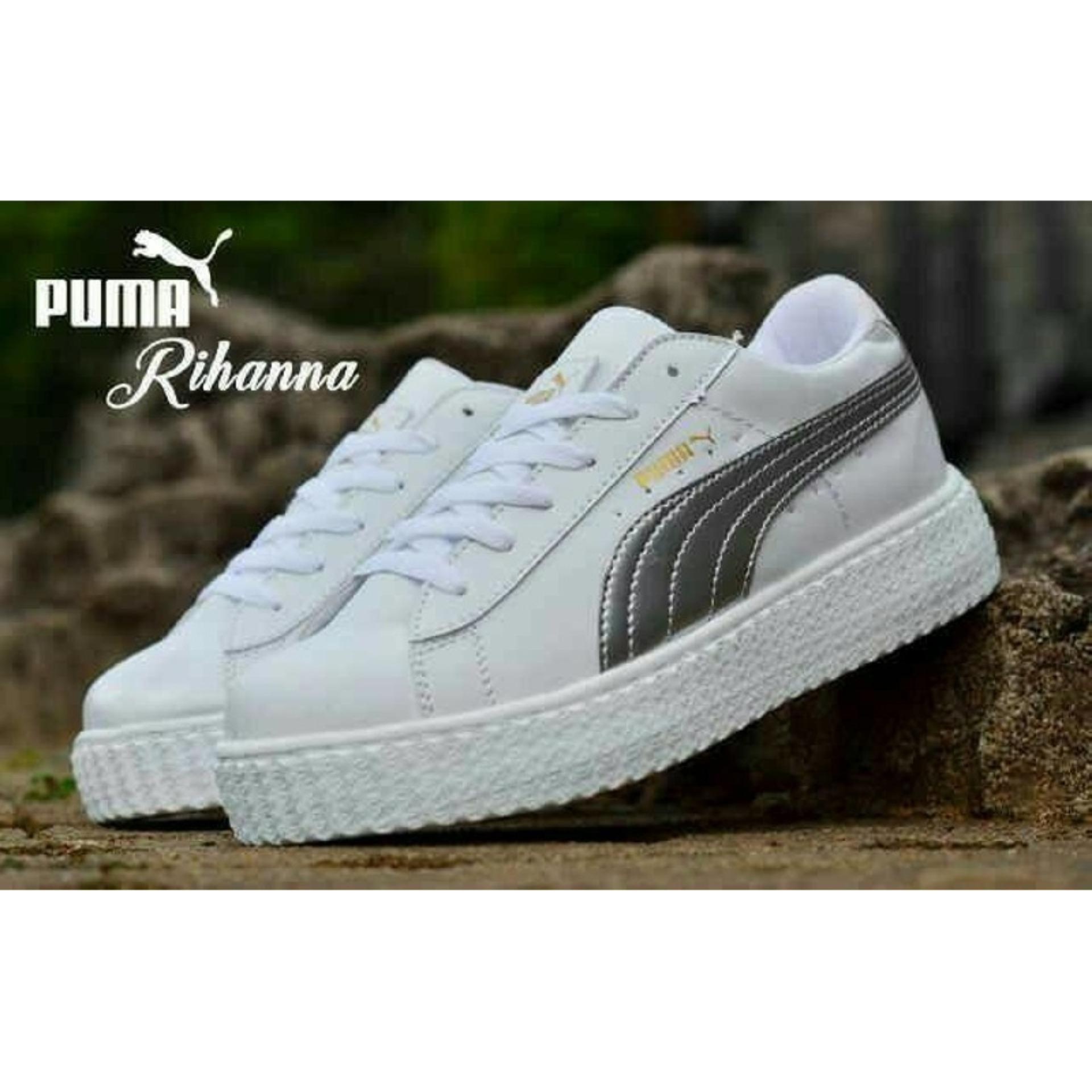 Grosir sepatu wanita murah - ecer - terbaru kets - casual - sport puma  silver 56ffc5990b