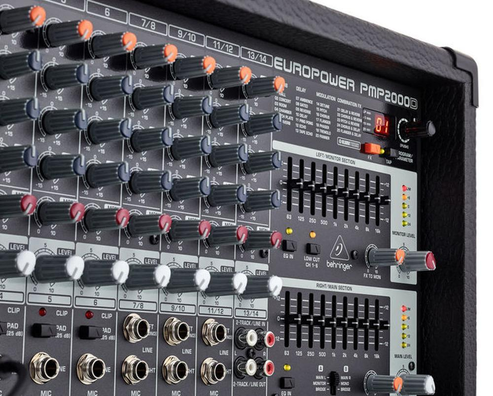 Fitur Behringer Pmp 2000 D Powered Power Mixer Audio 14 Channel Backpack Pria Raindoz Bbr611 Detail Gambar Watt With Effect Equalizer And Wireless Option Speaker Pasif Terkini