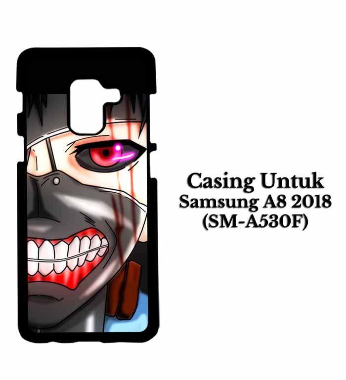 Casing SAMSUNG A8 2018 ken kaneki mas 2 Hardcase Custom Case Se7enstores