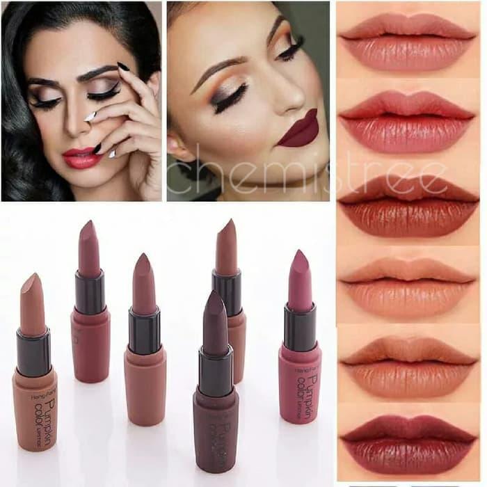 lipstick matte pumpkin color hengfang