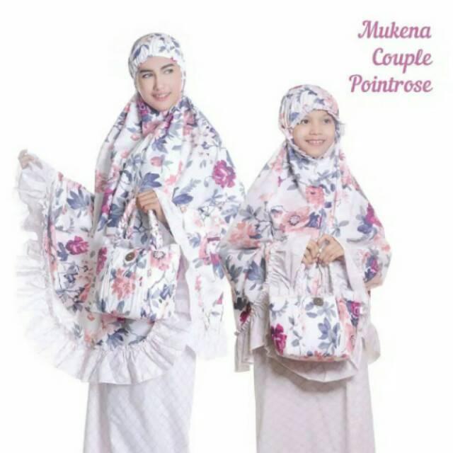 Promo Free Ongkir Mukena Couple Katun Kepang Pointrose (Pusat Grosir Mukena Tasik Termurah Terlaris) anak