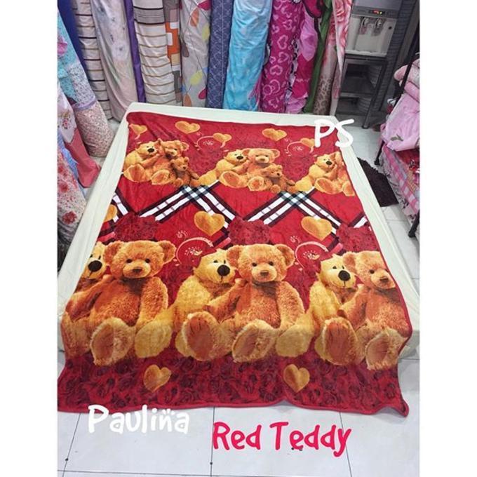 SELIMUT BULU BONITA - PAULINA RED TEDDY - SALE PROMO!!