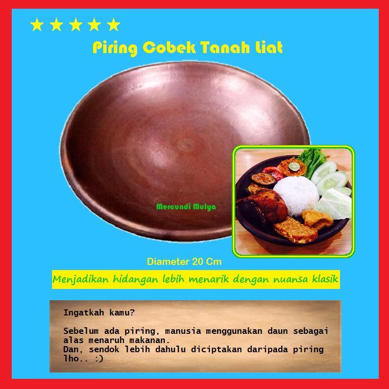 Piring Tanah Liat Tradisional Cobek Untuk Sajian Resto Kafe Warung Lesehan Pecel Lele