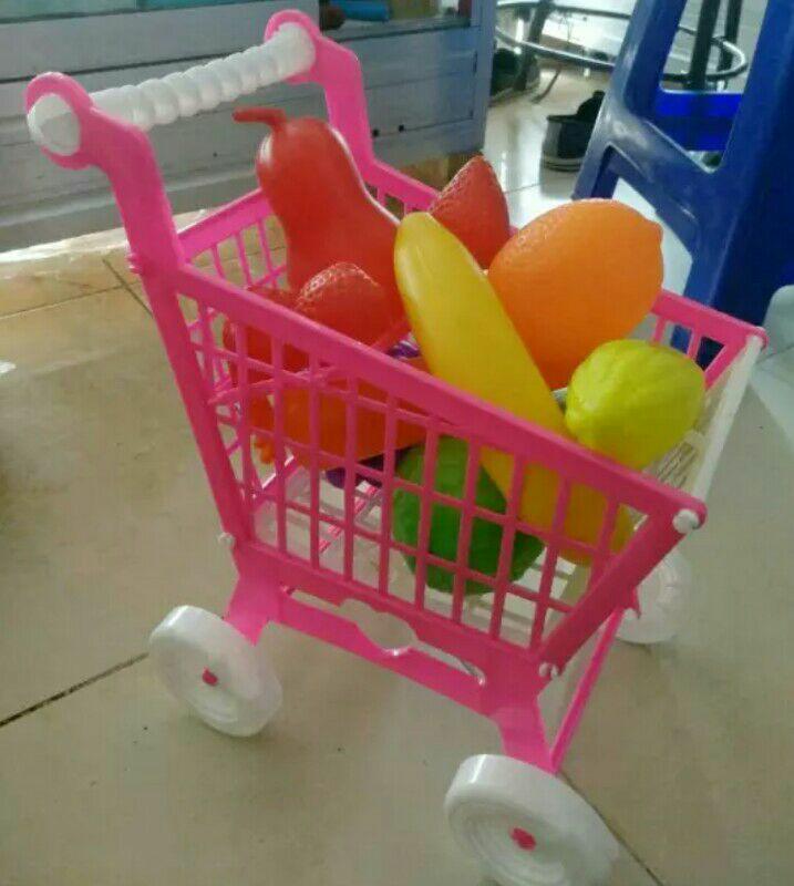 mainan keranjang belanja trolley troli hypermarket SNI