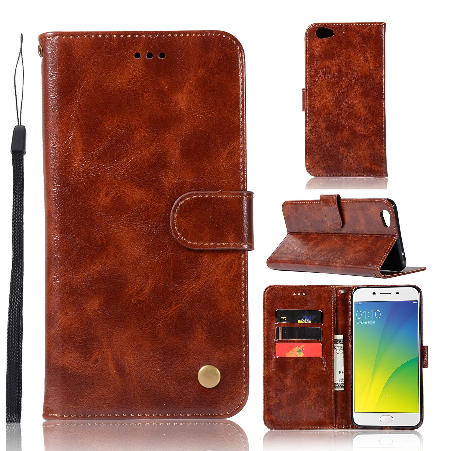 Casing For Oppo F3 Plus/r9s Plus,reto Leather Wallet Case Magnetic Double Card Holder Flip Cover By Life Goes On.