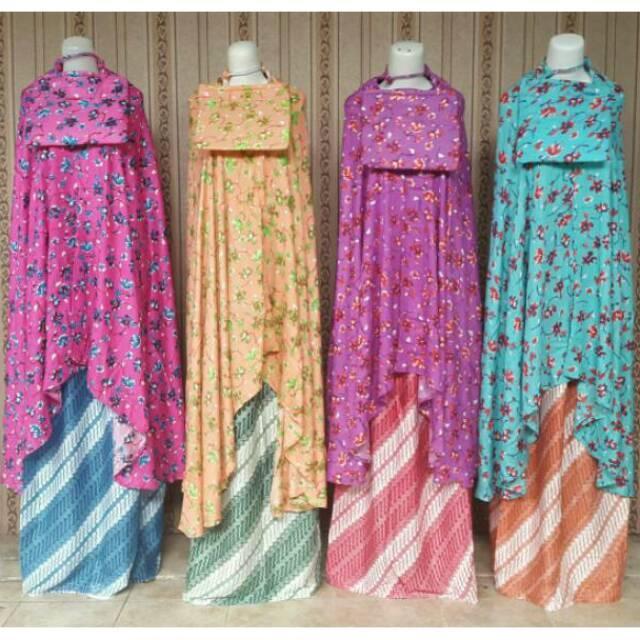 Grosir Murah Mukena Bali Bunga Batik Minimal ambil 100pcs