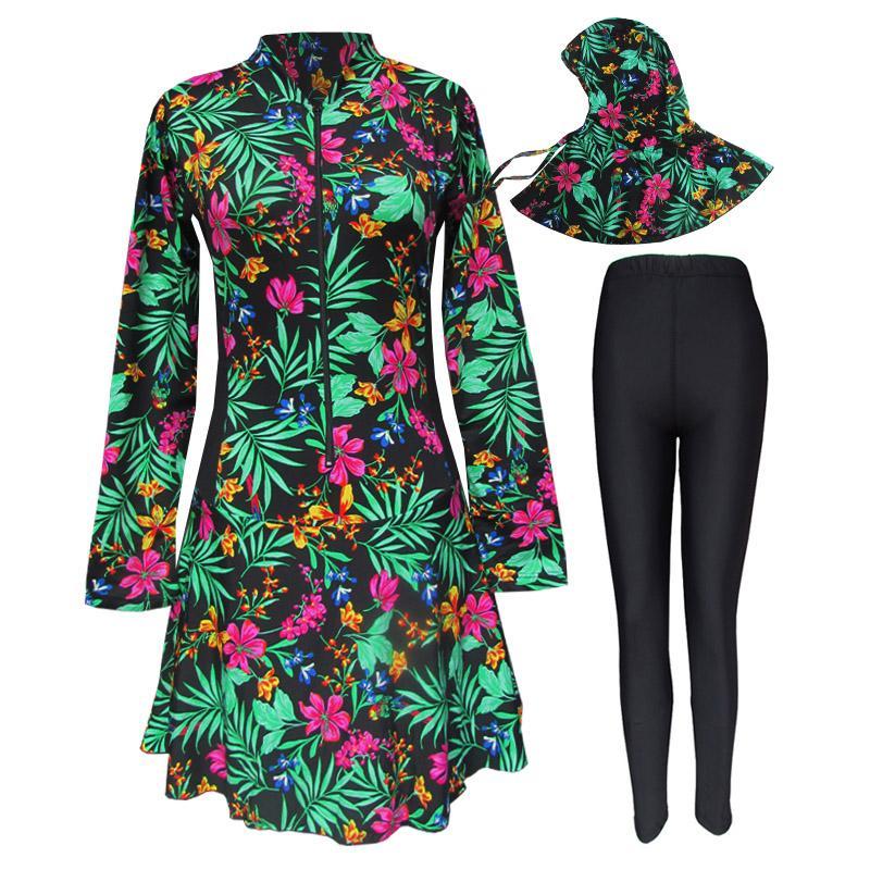 Baju Renang Muslim Motif Flora
