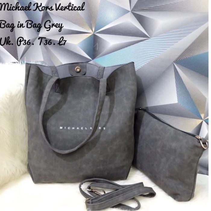 Tas Tote Bag Branded Wanita Cantik Berkelas  michael Kors Tote free pouch tas fashion batam import premium hadiah