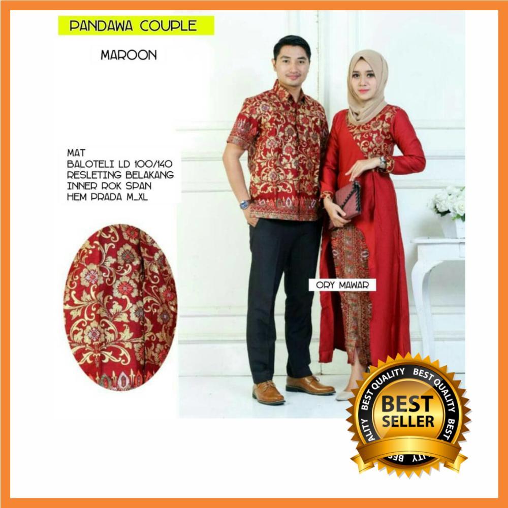 Batik Couple / Baju Couple / Muslim Couple / Batik Couple Keluarga / Batik Keluarga / Batik Modern / Batik Pasangan Original Pengarjin Type Pandawa