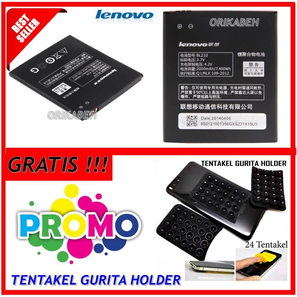 Lenovo Baterai / Battery BL210 For Lenovo S820 Original - Kapasitas 2000mAh + Gratis Holder Gurita
