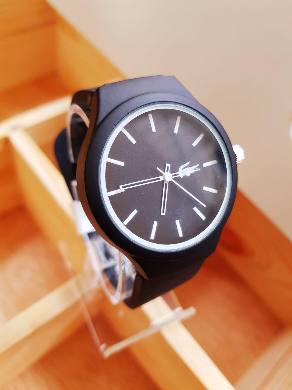 Jam tangan Pria / Wanita lacoste black