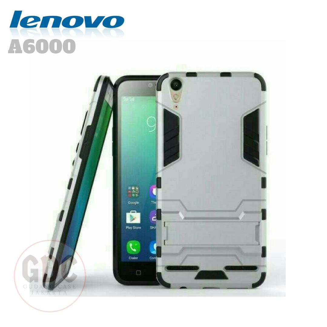 Case Ironman Lenovo A6000 / A6000 Plus Series With Kick Stand - Putih