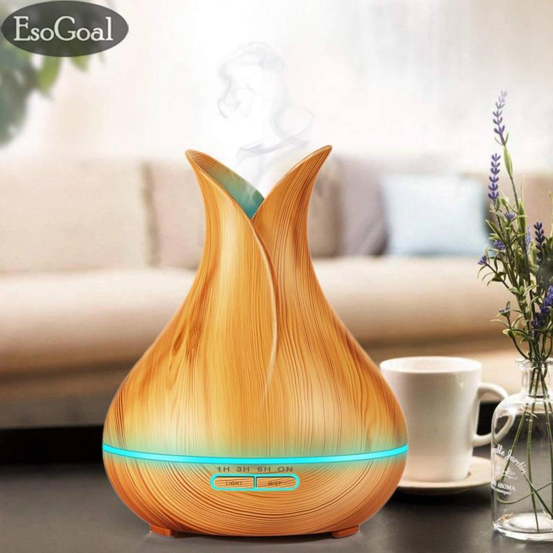 Bảng giá EsoGoal 400ml Air Humidifier Aroma Diffuser Aromatherapy Essential Oil Air Purifier Ultrasonic Cool Mist Humidifier with Wood Grain Design for Office Home Bedroom Living Room Study Yoga Spa(UK plug)