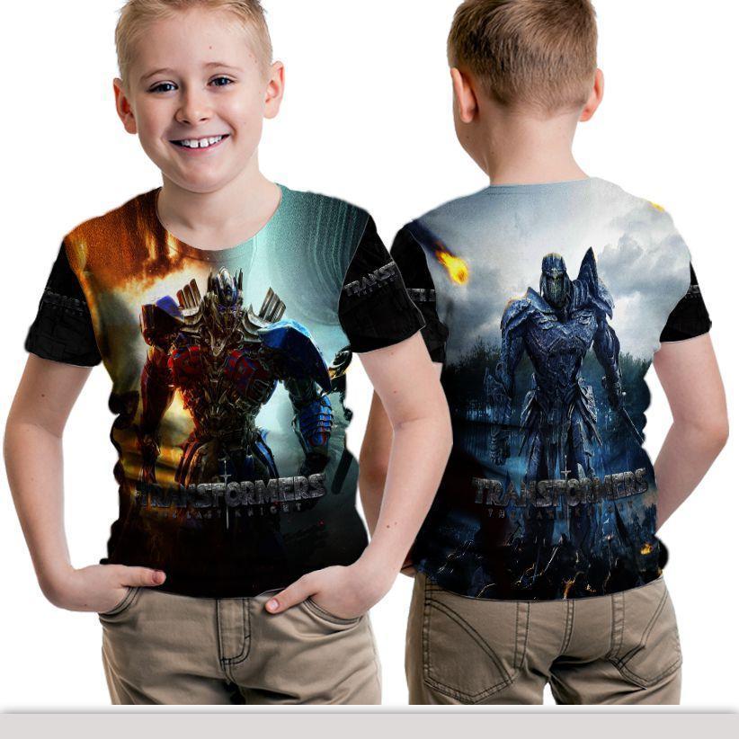 Kaos T-Shirt Anak  Lengan Pendek Unisex Fullprint Custom Transformer Art 3