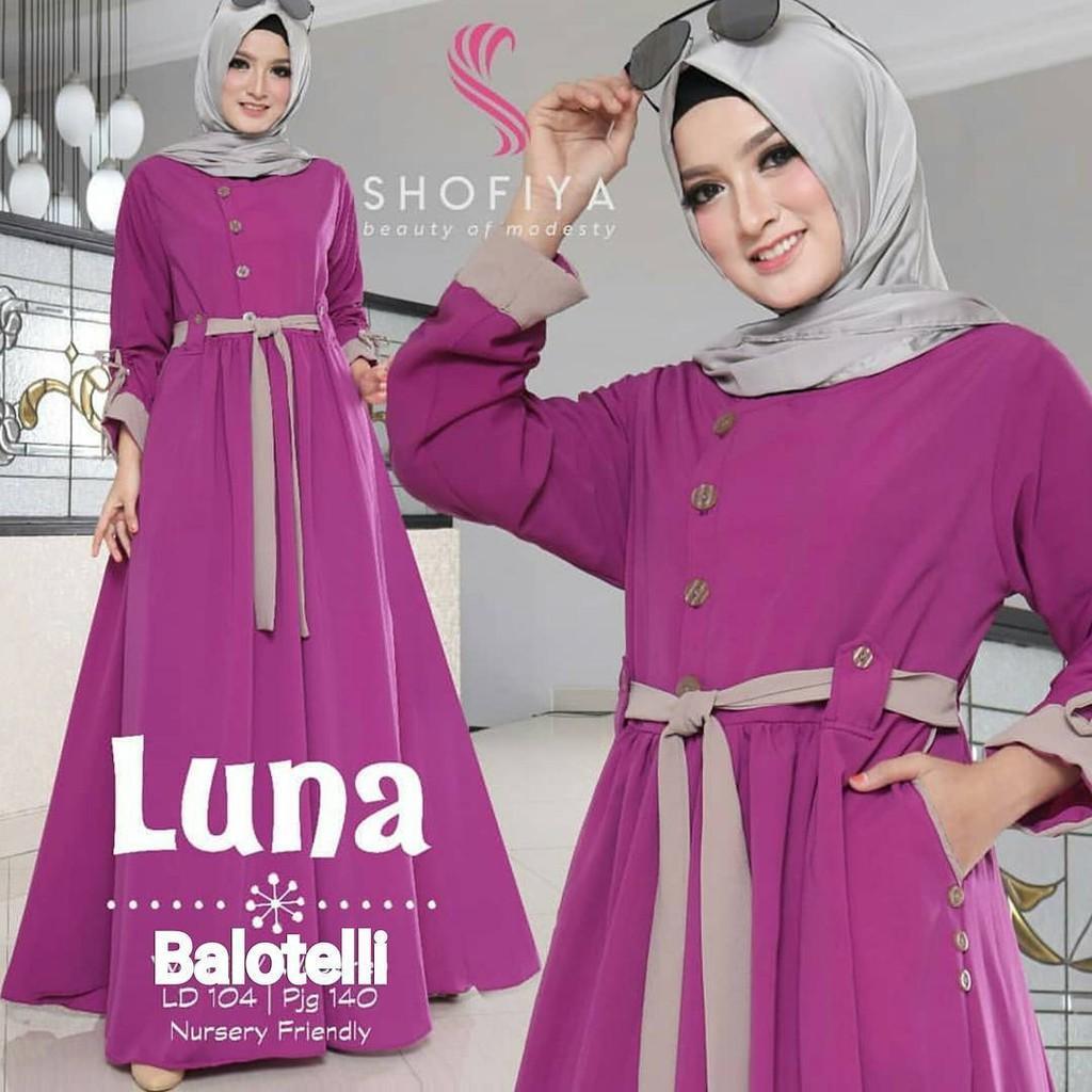 Luna Maxy / Gamis Hijab Murah Wanita / Maxy  Harga Grosir / Dress Pakaian Online Termurah Yellow