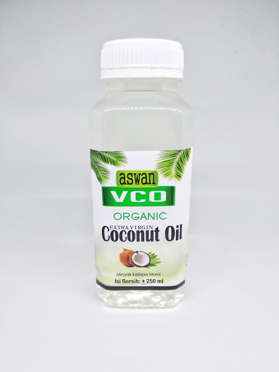 Aswan VCO Virgin Coconut Oil, Minyak Kelapa 250 ml