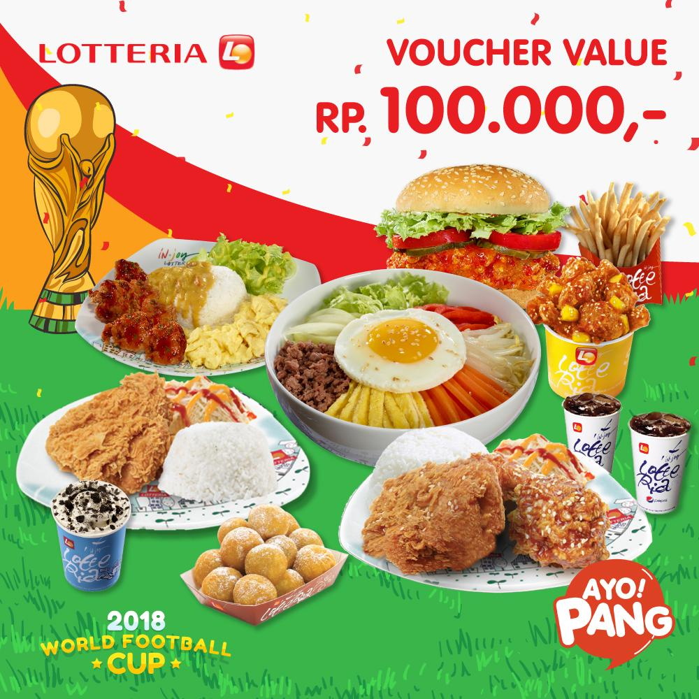 [LOTTERIA] Voucher Value Rp100.000_Special World Cup