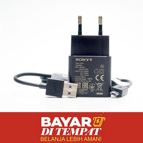 Charger For Sony UCH-10 Travel Charger Fast Charging Micro USB UCH10 Kualitas Original ORI - Bisa Untuk Sony Xperia Z Ultra Z1 Z1s Z2 ZL Z3 Z4 Z5 Compact Mini C C3 E T T2 Ultra T3 M M2 M4 Aqua Go ion X SP Sola