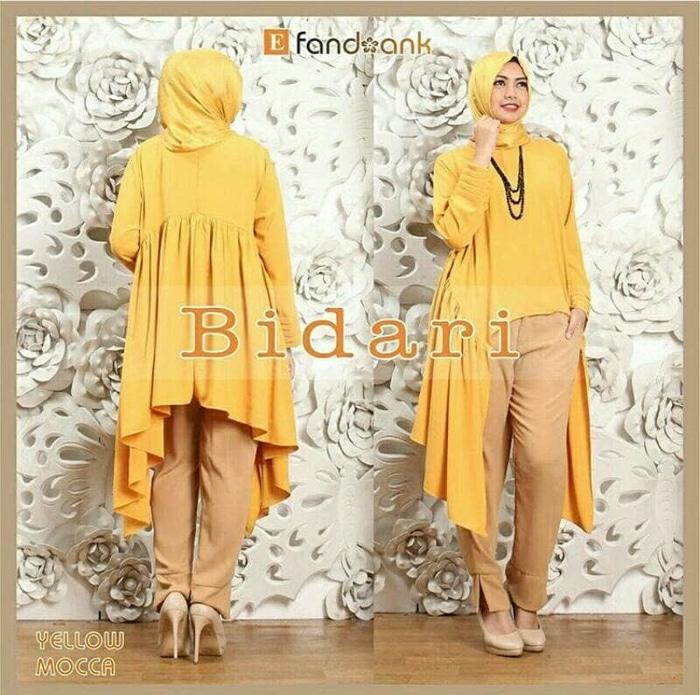 Set Bidari 3In1 Kuning Pakaian Wanita Baju Perempuan Stelan Baj Muslim
