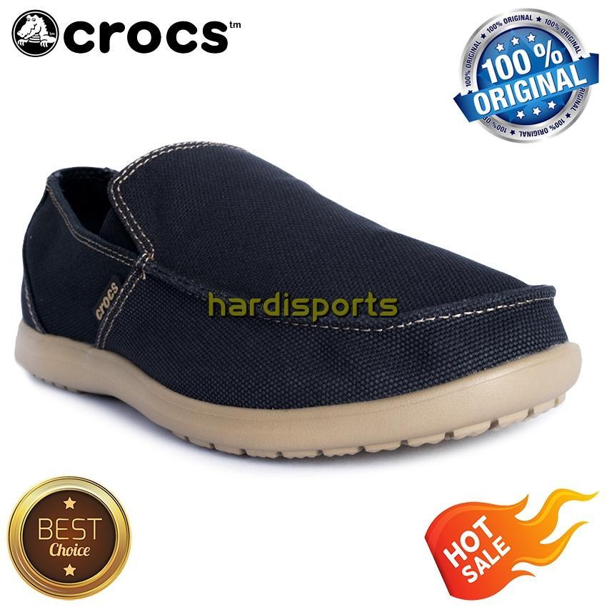 Sepatu Crocs Santa Cruz Clean Cut Loafer 202972-4BM - Navy