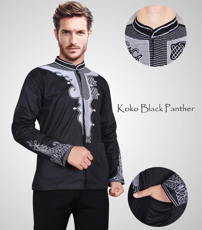 Baju koko pria motif black panther