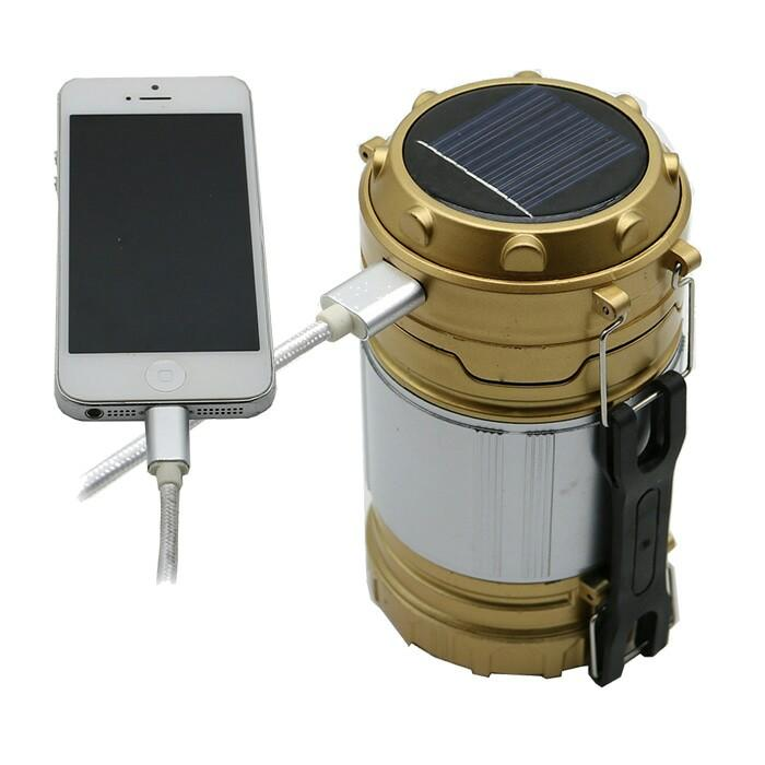 Senter Lampu Emergency Lentera Camping Power Bank Solar - 2