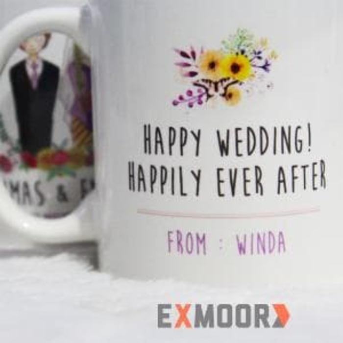 Kado Pernikahan Mug Couple Model Kebaya Nasional Murah