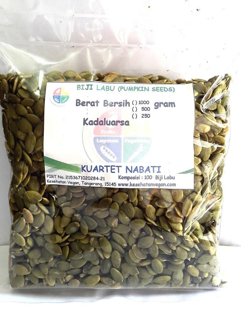 Kuartet Nabati Biji Labu - Pumpkin Seed (500 Gr)