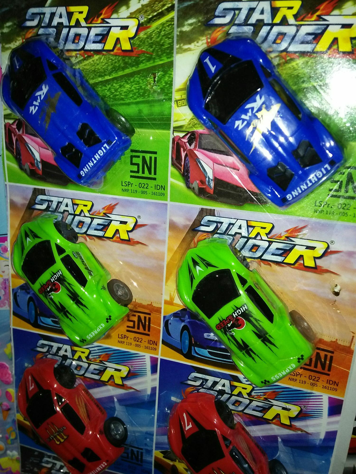WSK mainan 3 mobil balap star rider