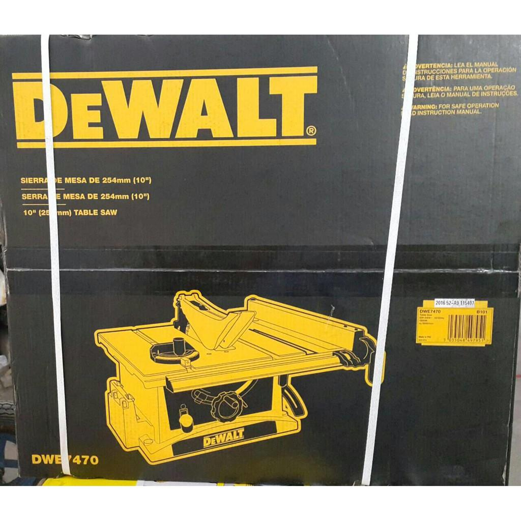 Dewalt DWE7470 Table Saw 10 Inch Mesin Potong Kayu Meja Circular Saw NEW
