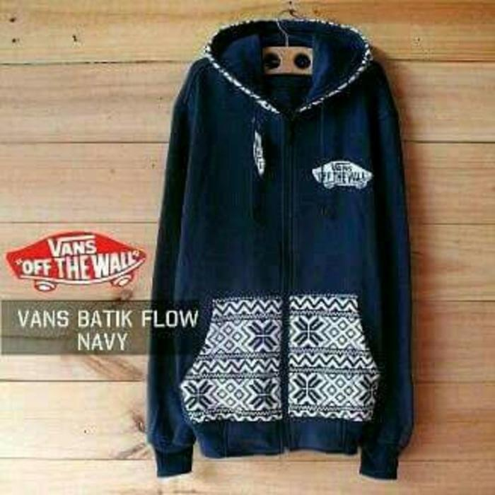 jaket sweater vans batik flow