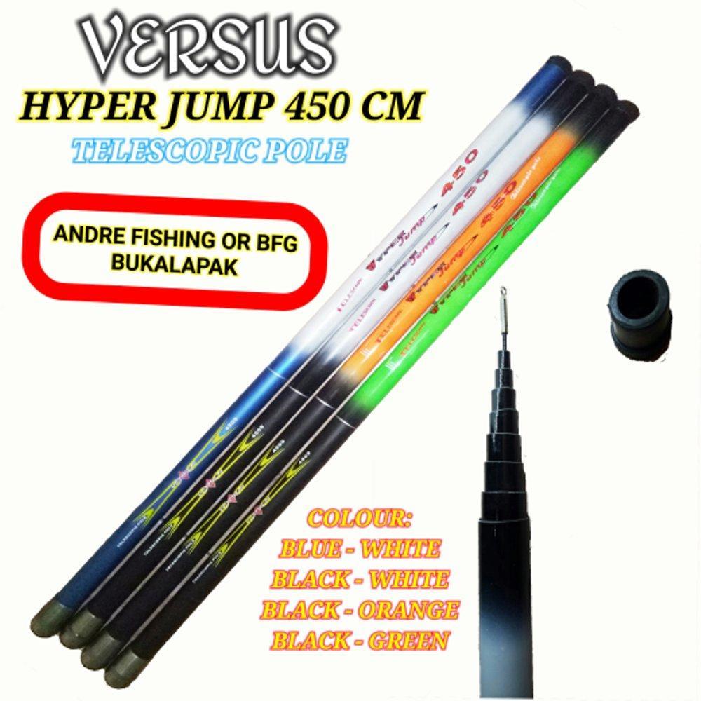 Joran Pancing Telescopic Pole 450cm 4.5m Harga Termurah - Tegek - Sorolok - Tegeg - Jejer - Alat Mancing di lapak Andree Fishing or BFG andree_alivio