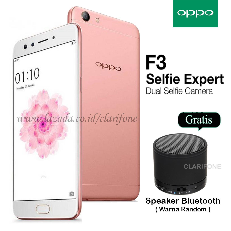 Oppo F3 - Dual Selfie Camera - Ram 4GB - Rom 64GB - Garansi Resmi - FREE SPEAKER BLUETOOTH