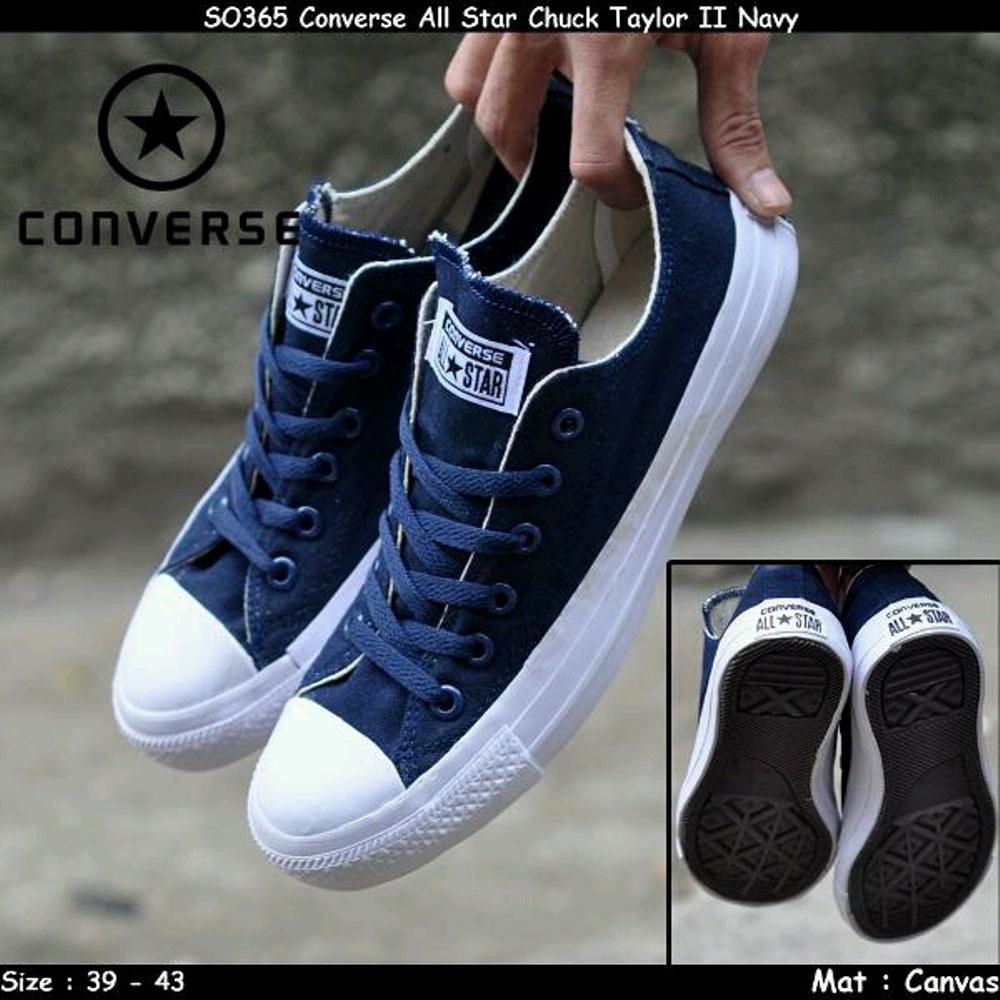 Promo Sepatu Converse all star chuck taylor navy ox Fashion