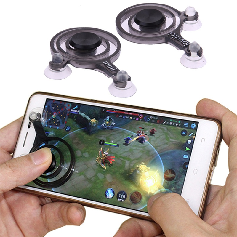 2pcs Hot Newer Mobile Joystick android ios Cell phone gamepad joystick Touch Screen Game Joypad Dual-stick Joysticks For Smartphone - intl