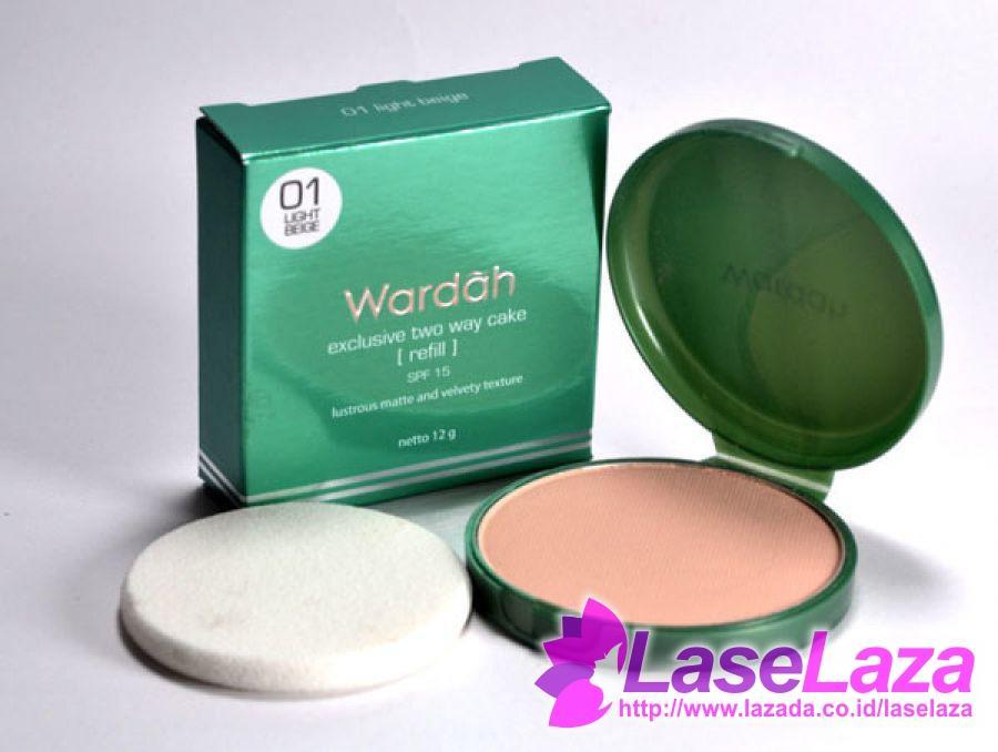 Wardah Exclusive Two Way Cake Refill 01 Light Beige Bedak Wajah