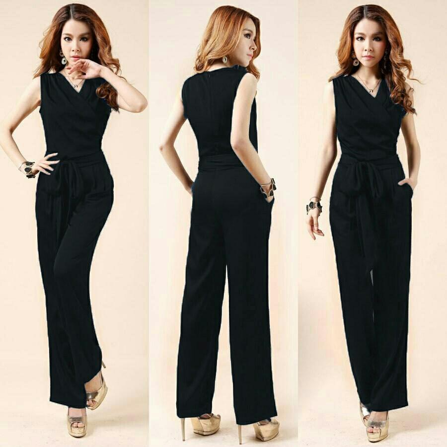 HagiosHolic Jumpsuit Fila merah hitam Navy / Dress Muslimah / Hijab Muslim / Gamis Syari /