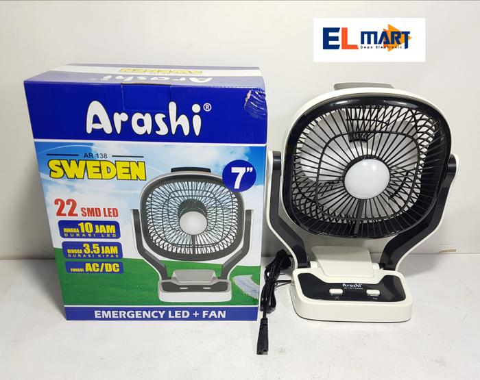 Arashi sweden kipas emergency AR138/22 led kipas 7inch/fan